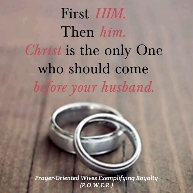 Christ before husband 2017