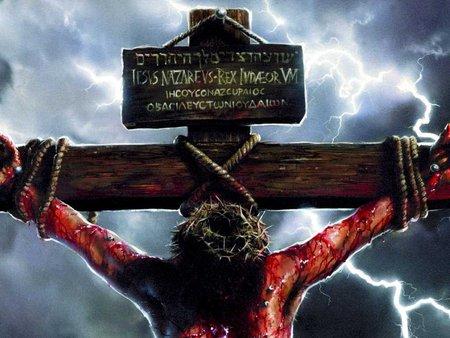 Jesus bloody on the cross 2018