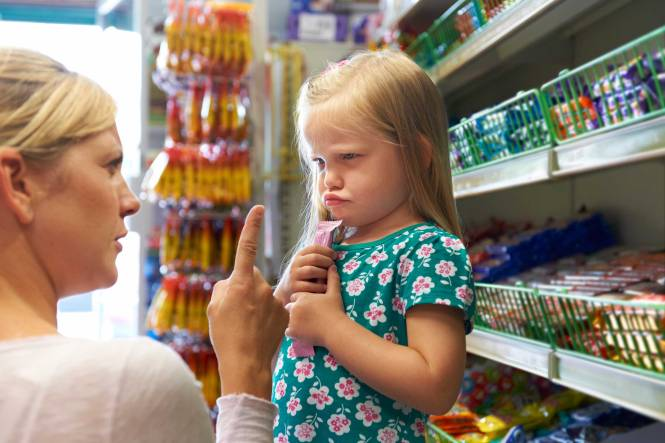 angry child in the candy isle 2019